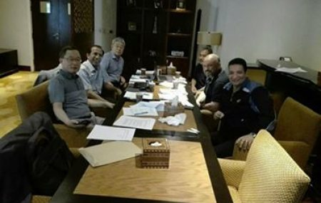 عقد السيد مدير عام الشؤون الفنية والمشروعات عدة إجتماعات في الفترة ما بين 19-23 من الشهر الجاري مع شركة Dong-L الكورية بمدينة القاهرة لغرض إنهاء عقدي إنشاء خزاني (504) بمستودع
