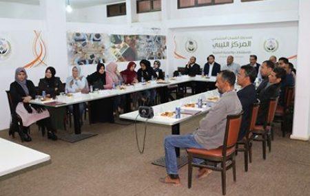 منسقية التدريب والتطوير للمناطق الوسطى والشرقية تختتم دورة تدريبية بمقر المركز الليبي للاستشارات والتنمية البشرية . من خلال التعاون المتبادل بين شركة البريقة لتسويق