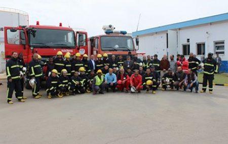 في إطار إهتمام إدارة الصحة والسلامة المهنية لقسم الإطفاء برفع كفاءة رجال الإطفاء وتنمية مهاراتهم وفق إحتياجات وأهداف السلامة بالمستودعات التابعة لشركة البريقة لتسويق