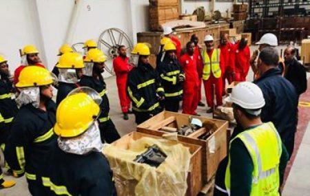 زيارة عمل ميدانية لفريق الإطفاء الطورائ قسم طرابلس الي مخازن الدريبي ومستودع مطار طرابلس