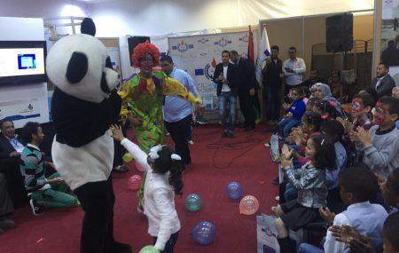 اليوم التاسع من أيام معرض طرابلس الدولي في دورته ال 46 جناح شركة البريقة للتسويق النفط كان علي موعد مع الترفيه والتسليه وتقديم الهدايا ووجبة غذاء خفيفة وذلك لإستضافة