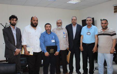 إتحاد العمال ، الزاوية ، مصراتة ، طرابلس ، بنغازي. يجتمعون مع مدير إدارة التدريب وفريق عمل مراجعة وتنقيح خطة التدريب 2014 لمناقشة ومعرفة الوضع الحالي التنفيذي للخطة. كما