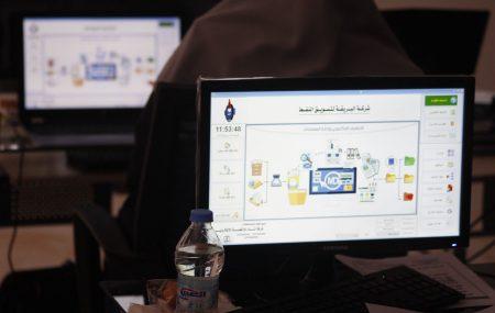 عنوان ورشة العمل التي جمعت بين شركة البريقة لتسويق النفط وشركة المداد للأنظمة الألكترونية قامت لجنة صيانة وتطوير غرف التحكم بالمستودعات النفطية ومستودعات المطارات