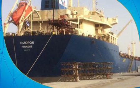 """حركة النواقل البحرية - الناقلة ريزبونRizipon تصل رصيف ميناء طرابلس البحري علي متنها حمولة 34.000.000 لتر من وقود البنزين """"95"""" ولتباشر عملية تنفيذ الطلبيات لشركات التوزيع صباح"""