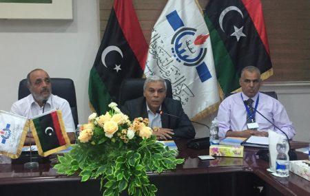 بدعوة من مدير عام السلامة والصحة المهنية والبيئة بشركة البريقة لتسويق النفط للسادة بمعهد النفط الليبي والإدارة العامة للصحة والسلامة المهنية والبيئة عقد اجتماع صباح