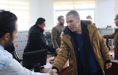 قام السيد رئيس لجنة الإدارة رفقة السادة أعضاء اللجنة صباح اليوم الأربعاء 2 يناير >> بزيارة مباني الشركة الإدارية بنغازي تفقد خلالها وزملاءه أعضاء اللجنة سير العمل