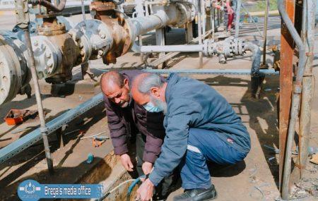 #البريقة_رجالها_تفاني_أبداع إستكمال أعمال صيانة شبكة خطوط الأنابيب الداخلية (14) بوصه الرابطة بين الخزانات و وحدة المضخات وكذلك إجراء عمليات الصيانة علي خط الأنبوب