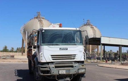 الإدارة العامة لعمليات المناطق الغربية والجنوبية إدارة عمليات منطقة الزاوية الكميات الموزعة من الغاز السائل ليوم الخميسالموافق 25 مارس 2021م.