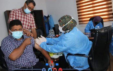 إستمرار_حملة_تطعيم_مستخدم_البريقة_ضد_فيروس_كورونا بمتابعة الإدارة العامة للصحة والسلامة المهنية والبيئة. #منسيقية _الشؤون _الطبية #مستودع #الزاوية_النفطي ، اليوم